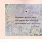 Madeline L'Engle Quote $5 Sympathy Card  Pink or white card, artist paper, vellum, ribbon and brad