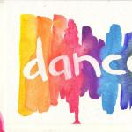 Rainbow Dance - Printed  $5  Watercolor  Decorated Envelpe