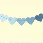 Paint chip hearts sewn onto card. Any color available. $4.50