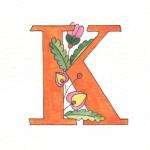"""K"" Reproduction of original artwork. Artist paper. Any letter available. $5"