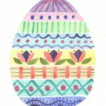 Easter Egg - Original watercolor $10; Reproduction on fine paper $5