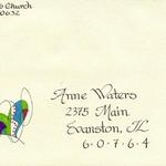 Example of decorated, addressed envelope - free with card.