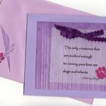 Dog Quote  $5  Quote is printed, attached to card with ribbon.
