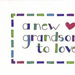 Grandson Card  $3.50  Printed   Card and envelope detail shown.